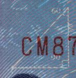 An enlargement of the triangle in the upper right corner of the 1999 edition of New Taiwan Dollar $1000 note, showing the 45 degree angle labled as 60 degrees.