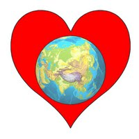 Planet Earth within a Heart