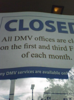 California DMV Friday furlough