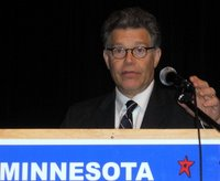 Al Franken just before addressing the 2008 Olmsted County Democratic-Farmer-Labor Party Convention in Rochester, Minnesota, 29 March 2008