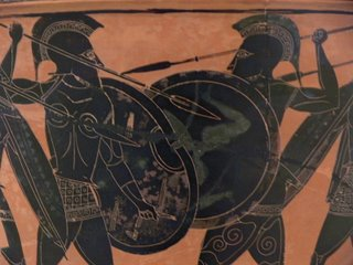 Hoplite Fight, Athens Museum