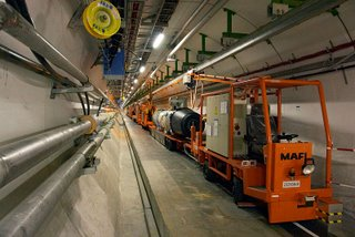 Inside the CERN LHC tunnel