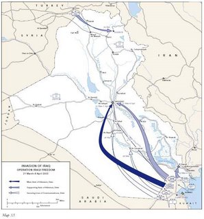 US Iraq Invasion Map