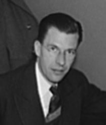 John Kenneth Galbraith, Office of War Information photo, ca. 1040-1946