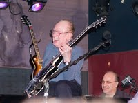 Les Paul, laughing, in New York