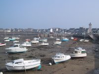 Low tide in Roscoff, Brittany, France (in the Morlaix area)