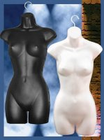 Injection molded woman's body hangers
