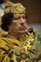 Muammar al-Gaddafi at the 12th AU summit, February 2, 2009, in Addis Abeba.