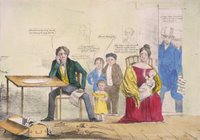 US Whig poster showing unemployment in 1837