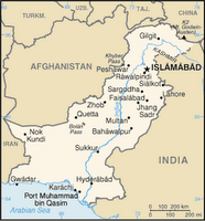 CIA map of Pakistan