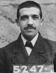 Mug shot of Charles Ponzi
