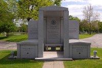 Roland Burris burial site in Oak Woods Cemetery in Chicago, Illinois