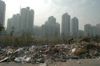 Trash and skyscrapers, Shanghai