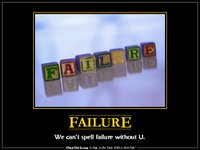 Failure de-motivational poster from slapfish.com